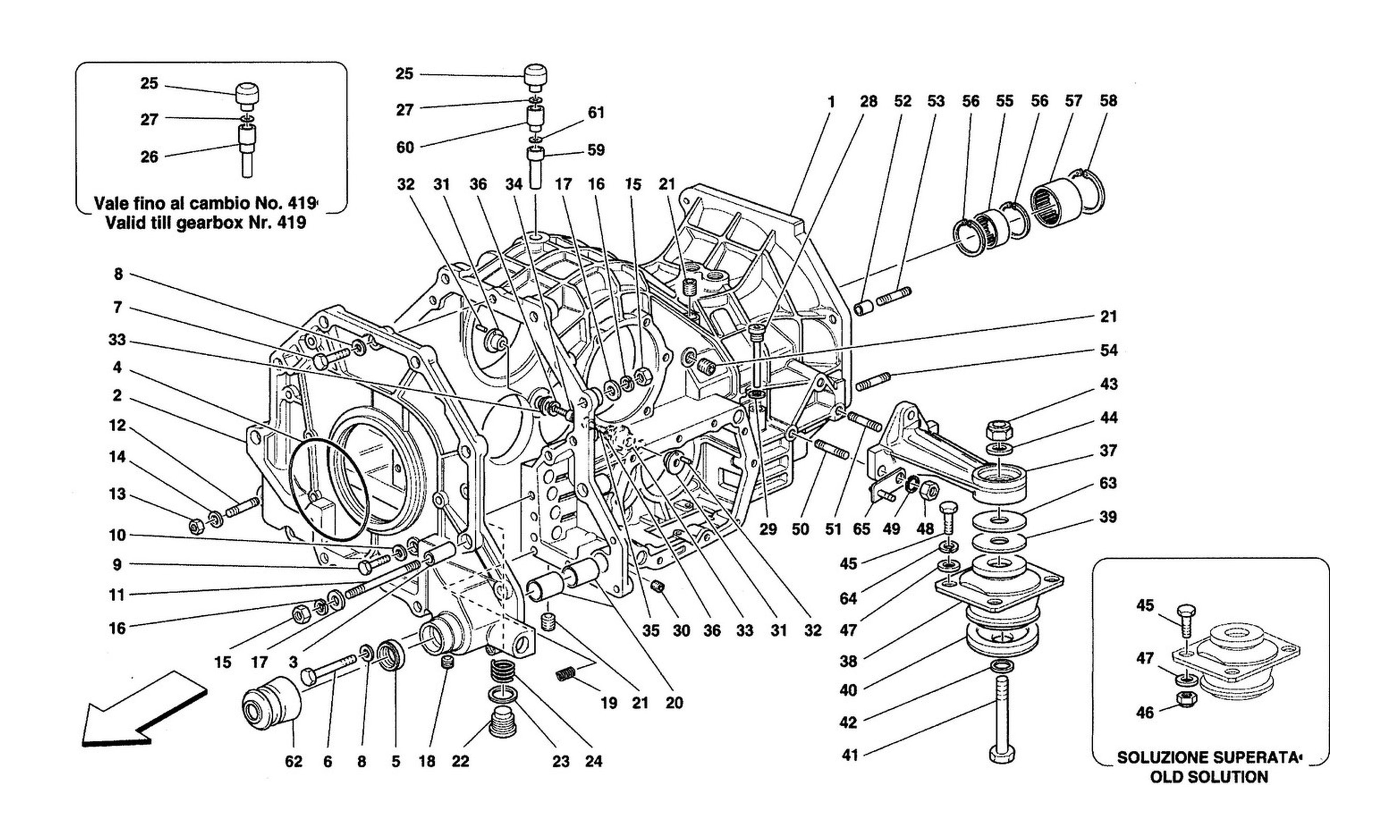 Table 27 - Gearbox - Differential Housing And Intermediate Casing
