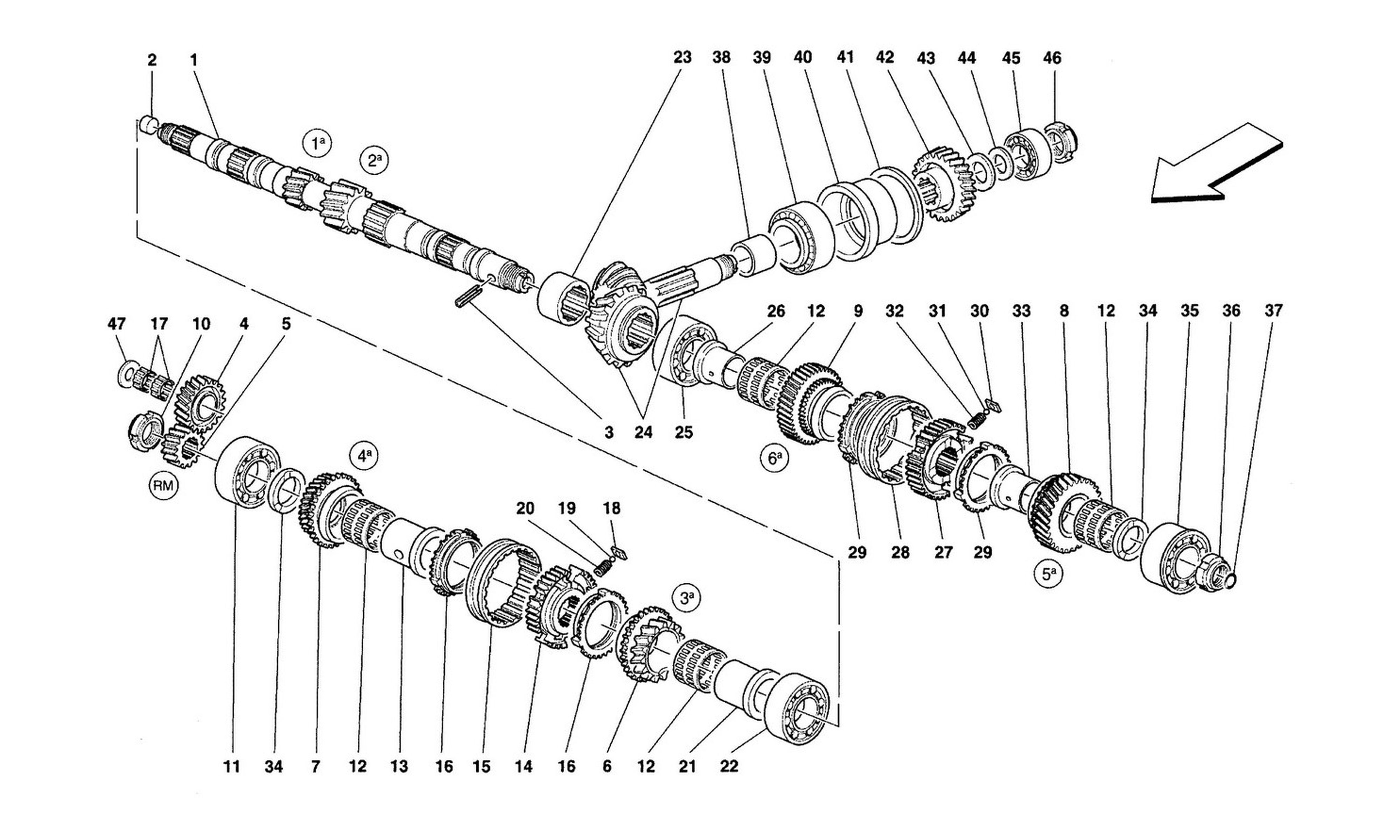 Table 29 - Main Shaft Gears