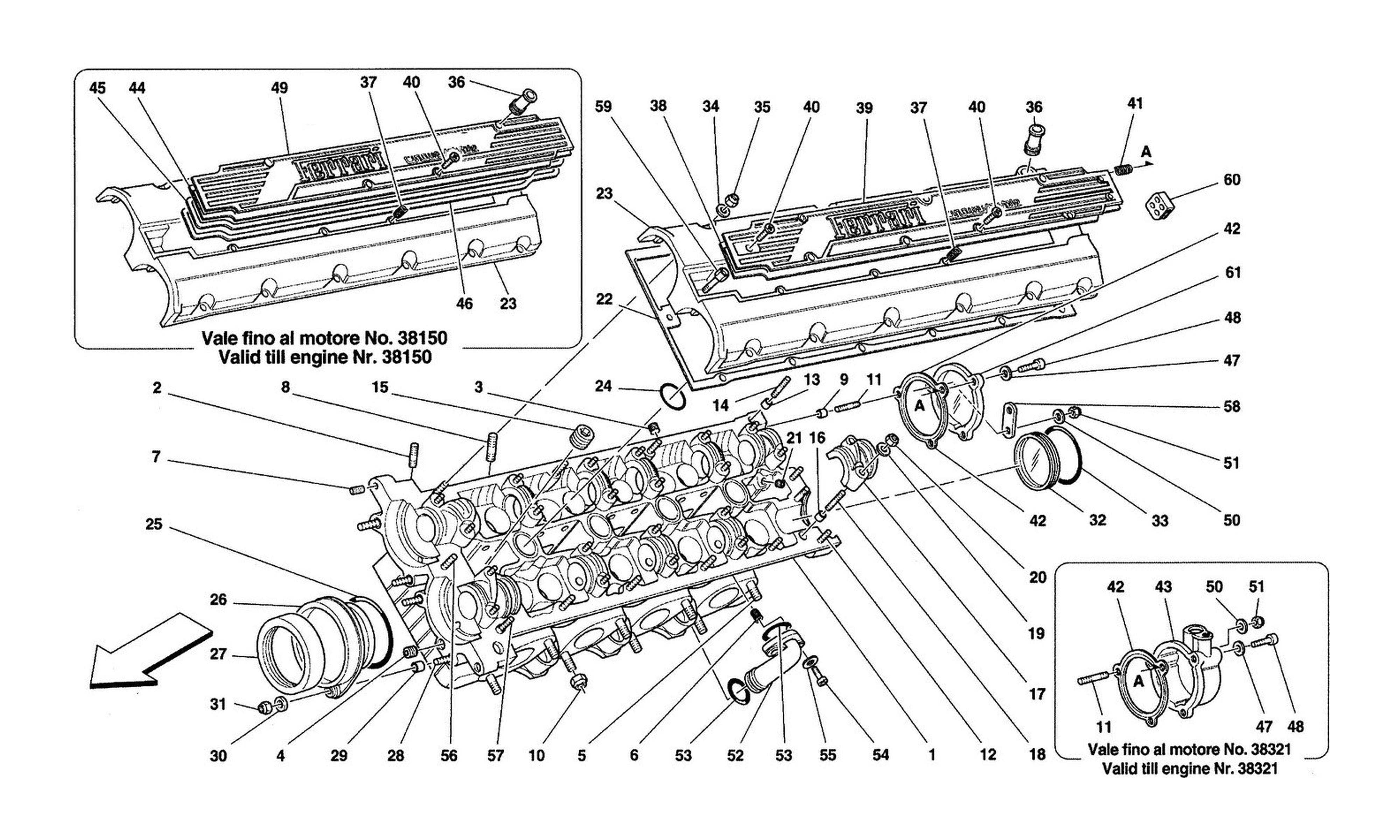 Table 4 - L.H. Cylinder Head