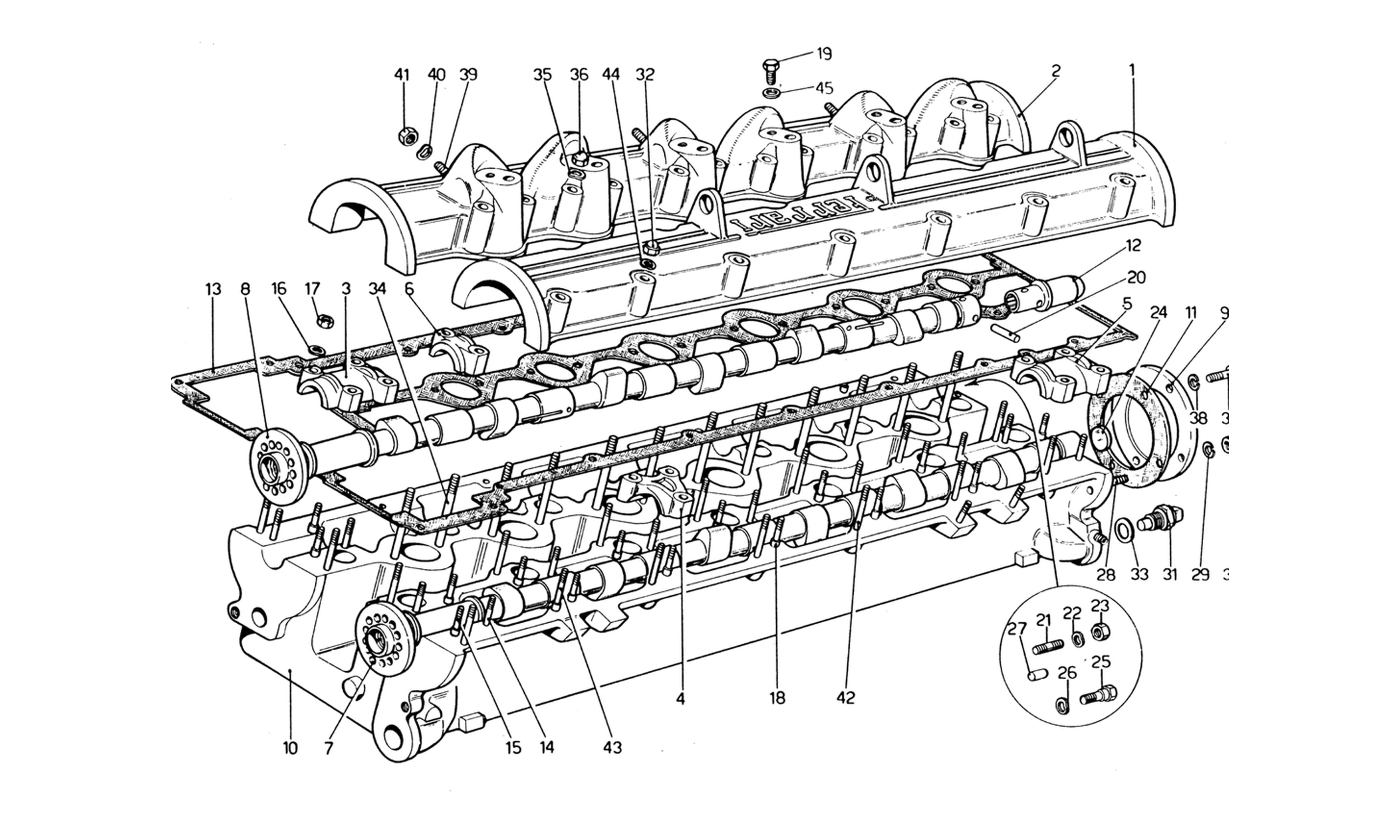 Table 4 - Cylinder Head (Right)