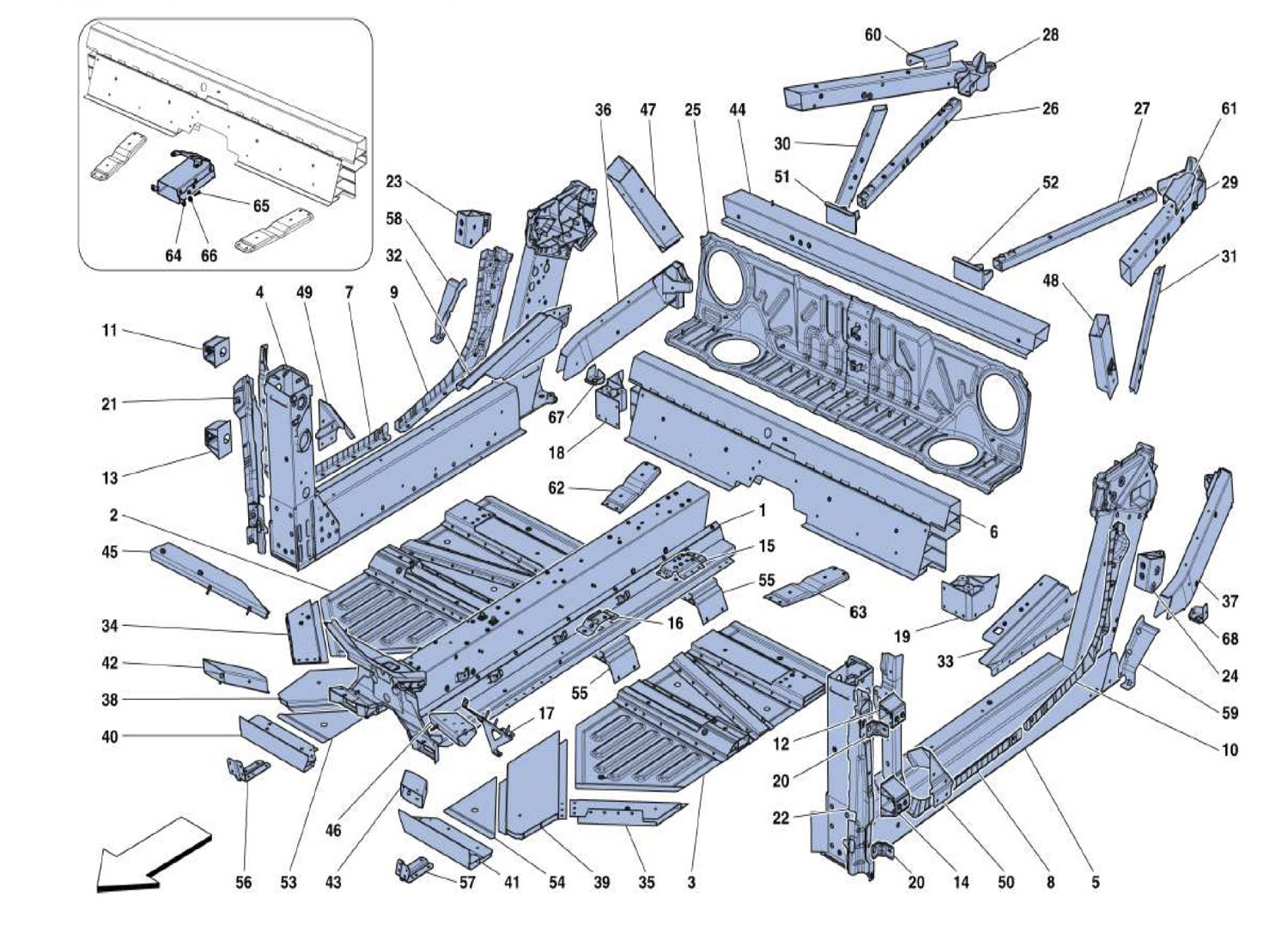 Schematic: Chassis Parts