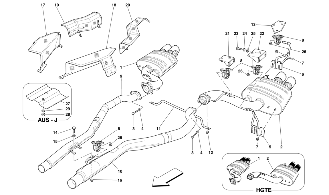 Table 18 - Rear Exhaust System