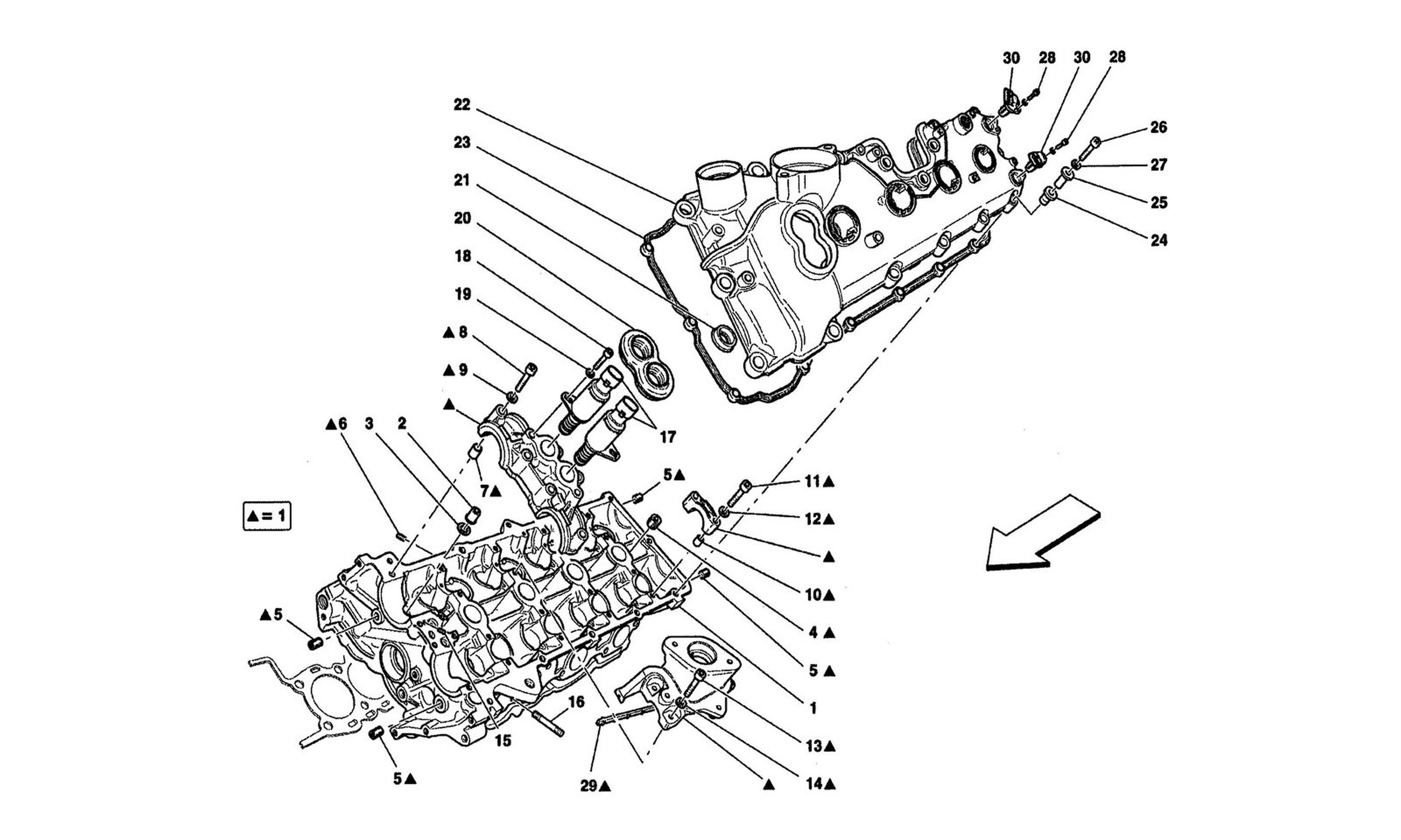Table 4 - Lh Cylinder Head