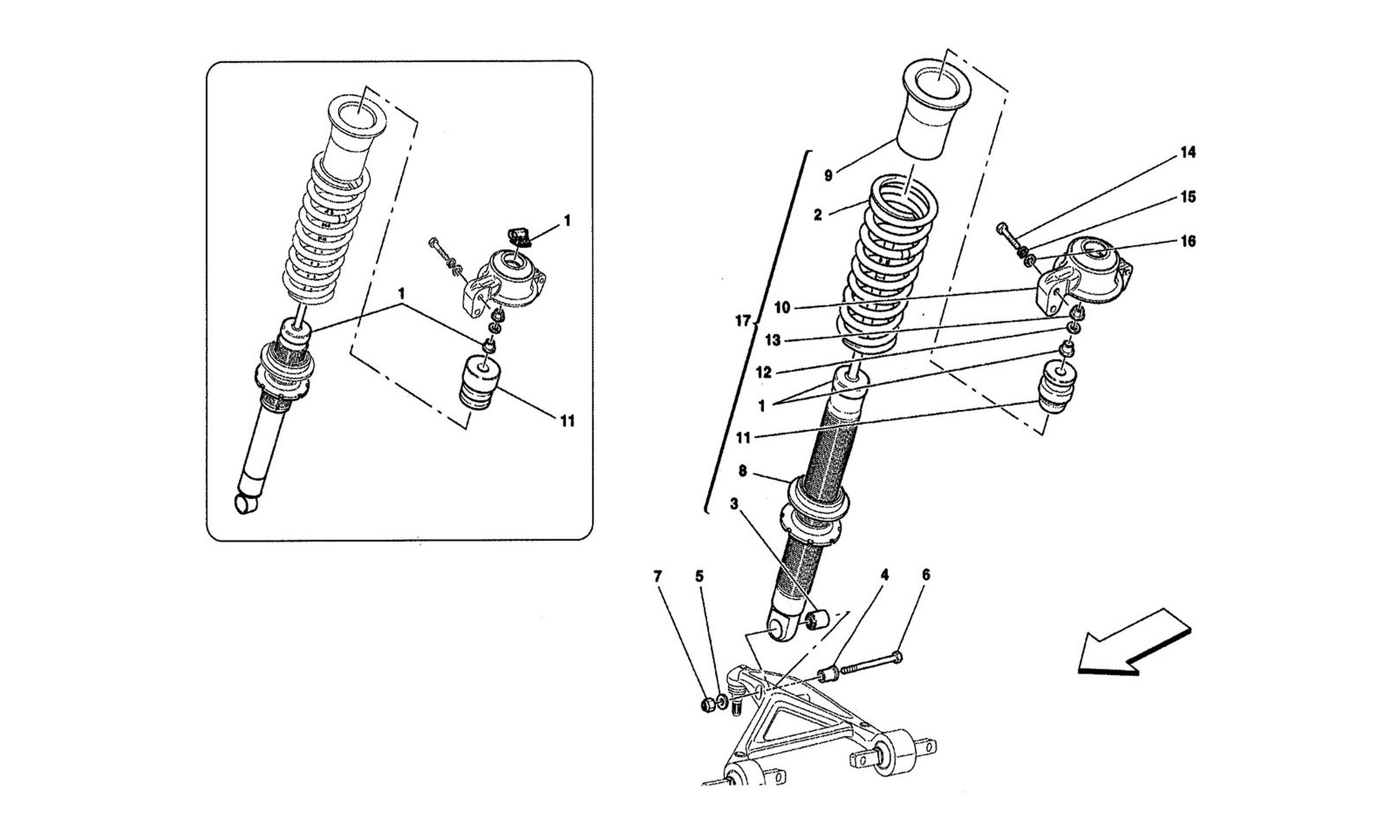 Table 43 - Front Shock Absorbers