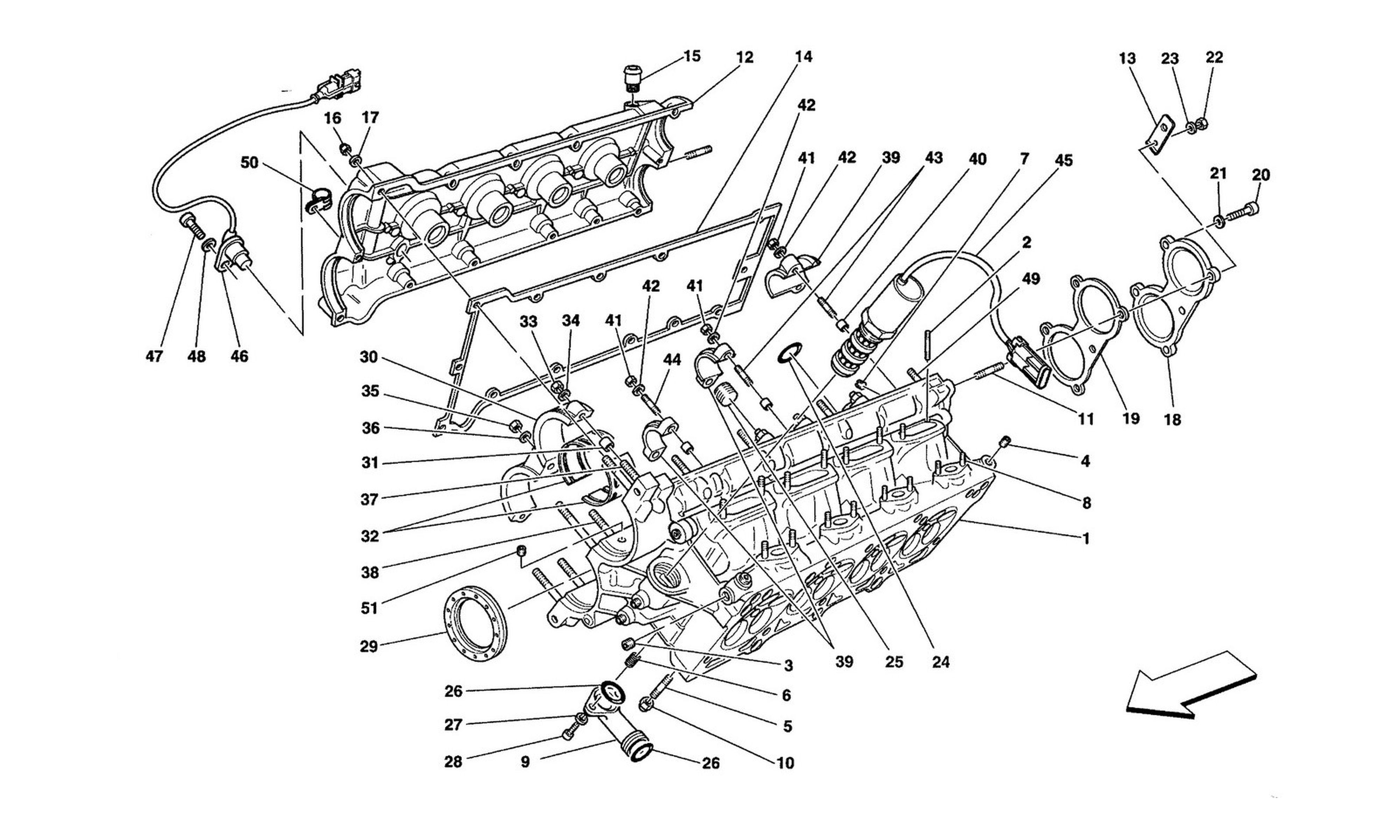 Table 3 - R.H. Cylinder Head