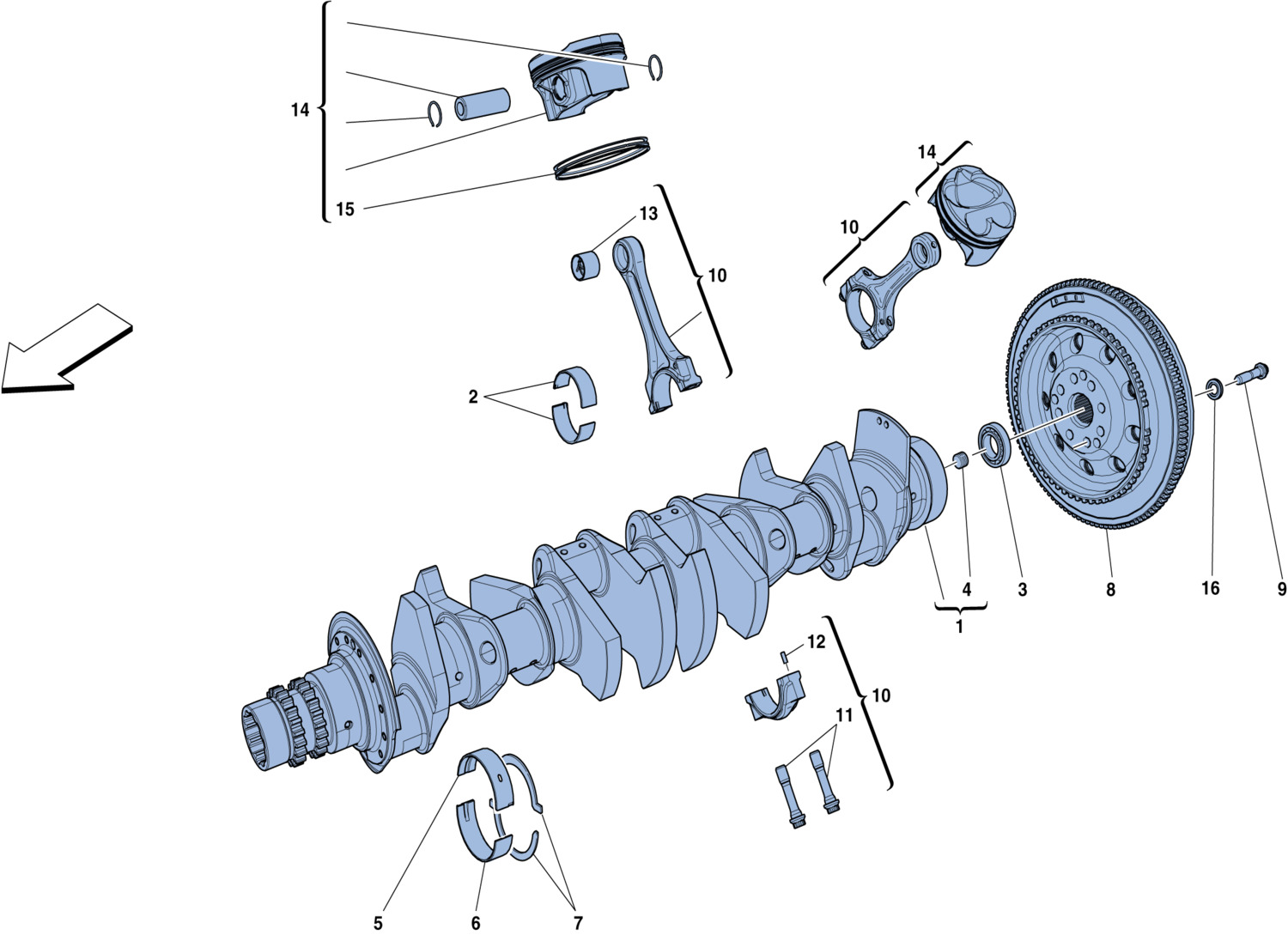 Table 2 - Crankshaft - Connecting Rods And Pistons