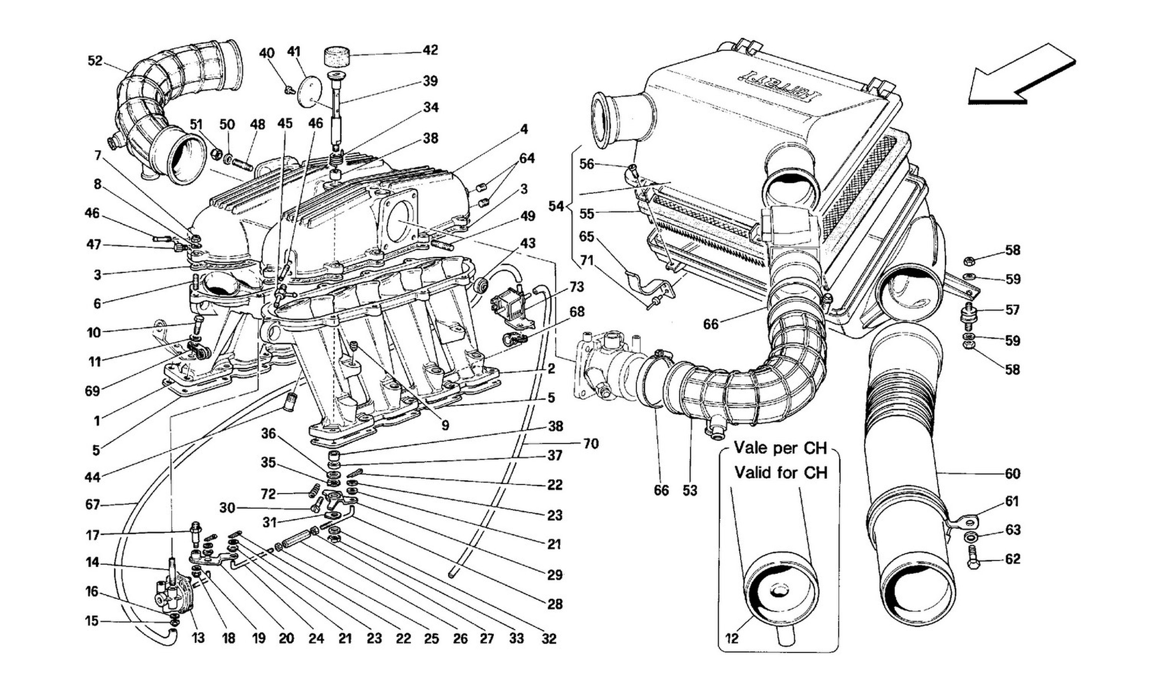 Table 13 - Manifolds And Air Intake -Motronic 2.5-