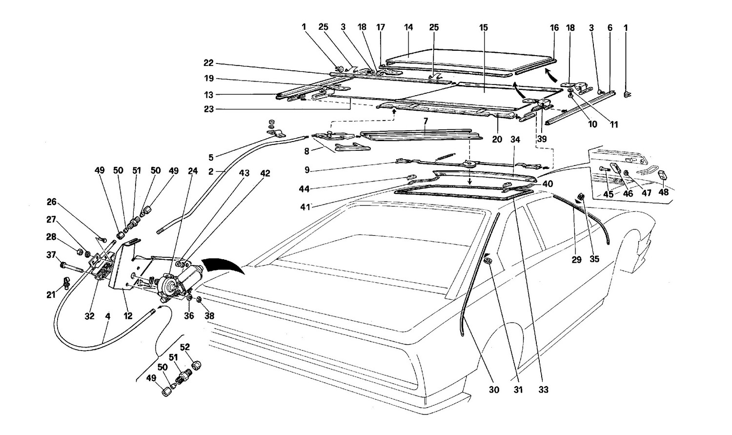 Schematic: Sunroof - Coupe -