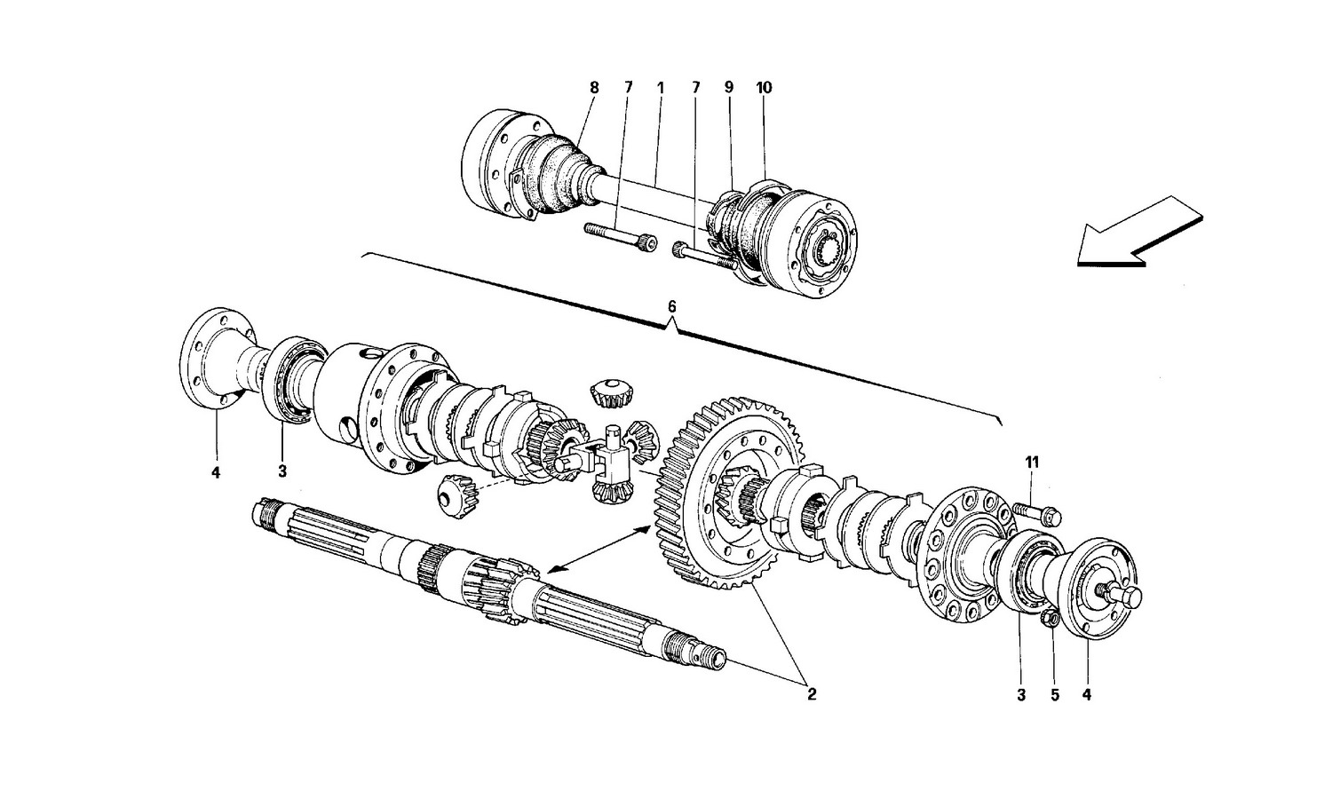 Schematic: Differential And Axle Shafts